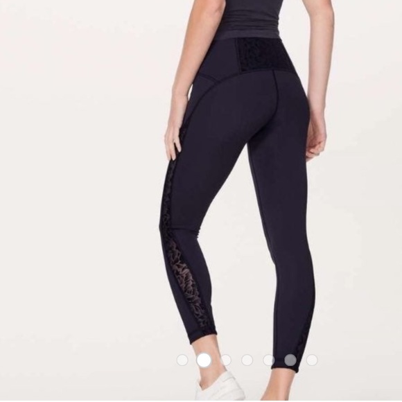 lululemon athletica Pants - Lululemon Leggings with Lace detail